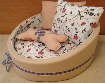 Handmade soft pet bed, suitable for dogs & cats. Made to order