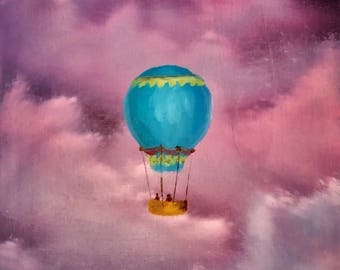 Dream Balloon- origanal oil painting