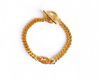 Small Vintage Repurposed Gucci Charm Bracelet, 6.5 inches