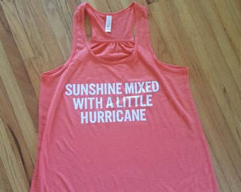 Sunshine and Hurricane Racerback Tank Top