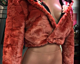 Faux Fur Waist Length Jacket