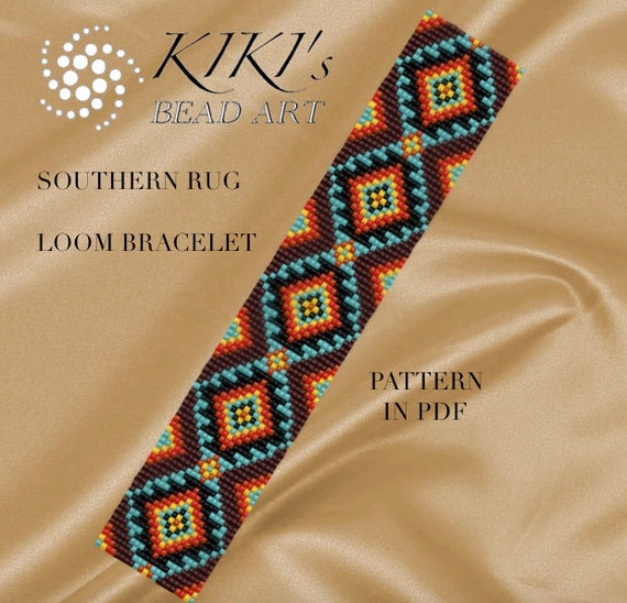 Bead Loom Pattern Southern Rug Ethnic Inspired LOOM Bracelet