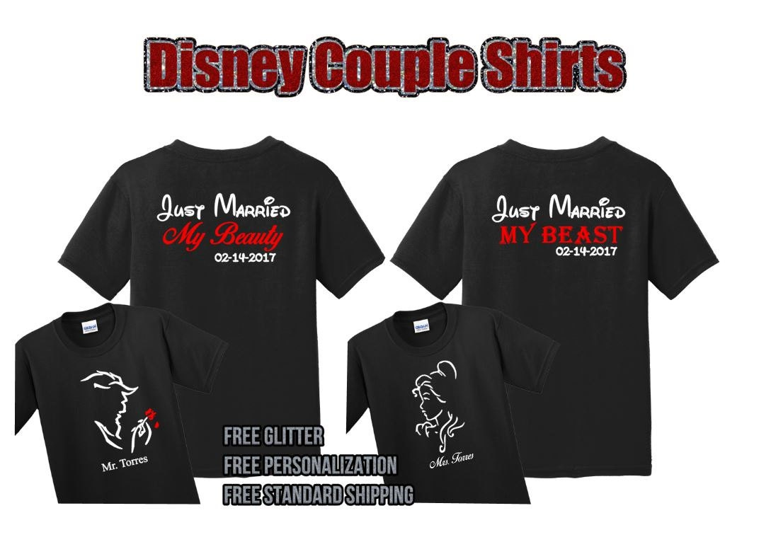Couples beauty and the beast shirts uVzdFiT2