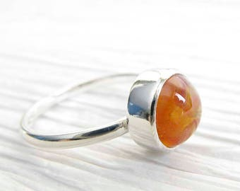 Simple Glass cremation sterling silver Embrace ring. Ashes of your pet. Mourning jewelry artisan. Keepsake gift dog cat. Classic design.