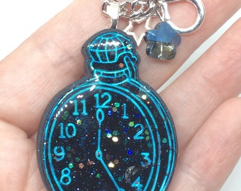 Glittery Resin Watch Keychain