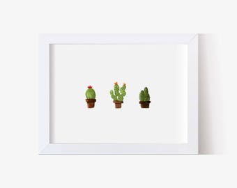 Watercolor Painting, Watercolor Picture, Cactus Art, Cactus Print, Succulents Print, Succulent Picture, Watercolor Art (5x7, 8x10, 11x14)
