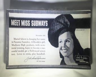 Glass Catch-all/New York City Subway Ad