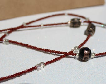 Maroon and Purple Necklace