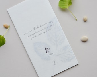 Vegetal illustrations, 5 cards, original prints created with plants, Winter collection ( volume 1)