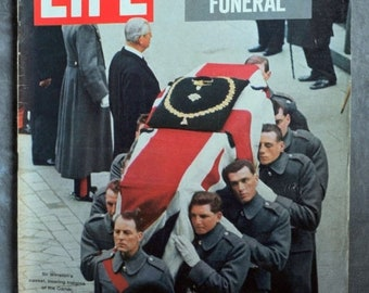 BTS Life Magazine February 5, 1965 Churchill's Funeral