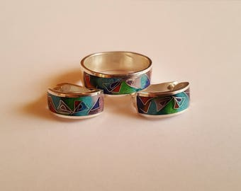 Set from an earring and a ring