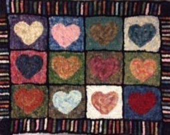 Heart Sampler Rug