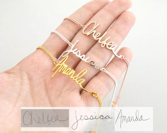 Handwriting Jewelry • Actual Custom Handwriting Bracelet • Personalized Gift for Mom Grandma • Keepsake Jewelry • Signature Bracelet • BH01
