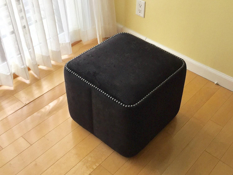 Muebles De Arte Cocodrilo Cuadrado Negro Exclusivo Vinilo # Muebles Otomanos