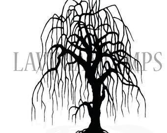 Lavinia Stamps Clear Rubber Stamp - Weeping Willow