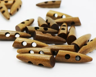 Wooden Toggle Button Closures