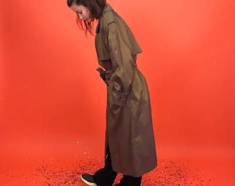 Iridescent bronze trench coat M/L