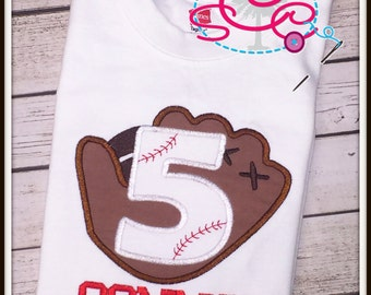 Personalized Baseball Themed Birthday Shirt/Bodysuit