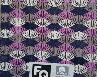 "Fabric Quarters Cotton Fabric 18""- Purple & Blue"