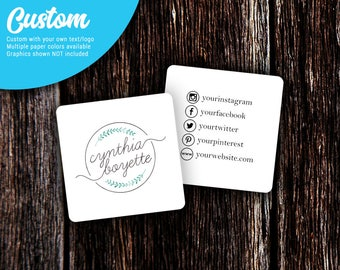 Social Media Cards | Custom Business Cards | Mommy Calling Cards | Social Media Cards | SH002BU