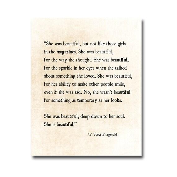 F Scott Fitzgerald Love Quotes She Was Beautiful