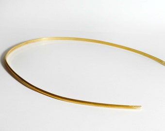 Simple Golden Circlet- Golden Crown for costume and wedding - brass no loops - flat back