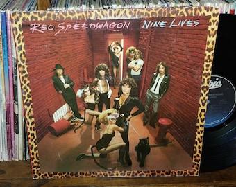 REO Speedwagon Nine Lives Vintage Vinyl Record