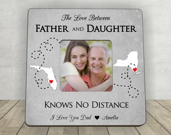 Gift for Dad, Christmas Gift for Dad, Father Daughter Gift,Personalized Picture Frame,Long Distance Gift,Love Between Father and Daughter
