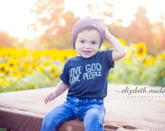 Love God. Love People. Kids T Shirt - Baby and Toddler and Youth Graphic Tee - Boys Clothing - Girls Clothing - Boys or Girls  Shirt - Tops