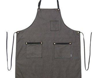 Industry Full Apron - Standard Canvas - Stone