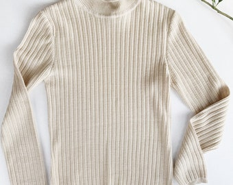 Textured Wool High Neck Top