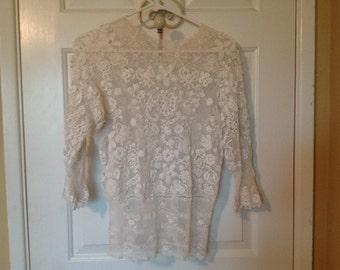 Antique Irish Lace Blouse