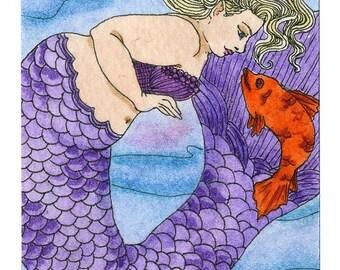 Fishy Conversations Mermaid 5x7 For Christie