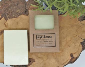 Tuscan Cedarwood - Bar Soap - Goats Milk - Mens - All Natural - Farmhouse - Fresh  - Natural Soap - Mens Goats Milk Soap - Handmade Soap