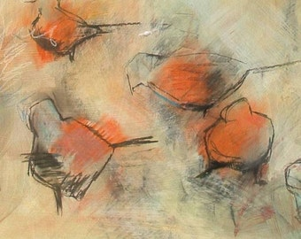 The Bird Paintings - Pair of Large Open Edition Fine Art Prints -