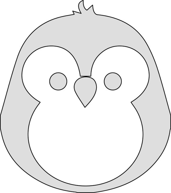 Inch H String Art Cartoon Penguin Pattern  Template From