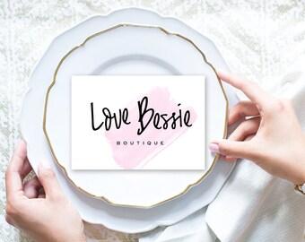 Premade Logo | Business Logo Design | Photography Logo Watermark | Watermark | Blog Branding Kit Design | Mini Branding | Calligraphy Logo