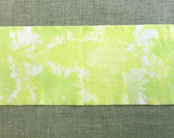 Bright Lime - Hand Dyed Wool Fabric Piece used for Rug Hooking and Applique -  Fat Eighth