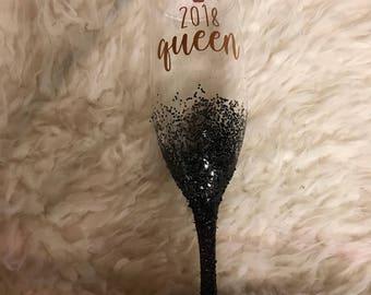 Custom champagne glass