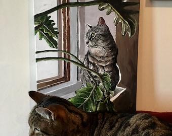 Ramona the Cat Original Painting