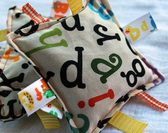 Scattered Alphabet Vibrant Print Bean Bags - Set of 3