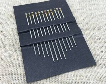 Set of 12 needle in hand self Threading