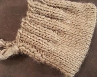 Knitting Pattern: Wide Brimmed Newborn Bonnet Pattern