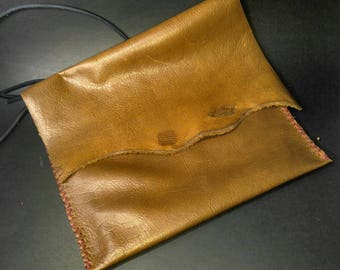 Brown Leather Club Purse