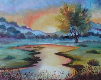 MORNING LIGHT-original oil painting