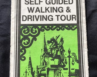 Vintage New Orleans Self Guided Walking & Driving Tour Pamphlet