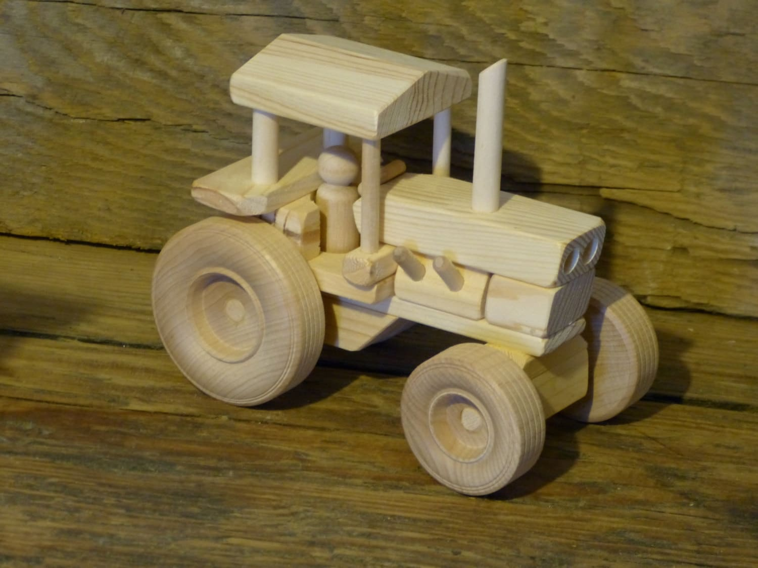 Wooden Toys For Boys : Handmade wood toy farm tractor wooden toys childs kids boys