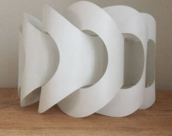 A Super Funky White Plastic Mid Century  Lamp Shade.
