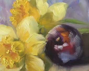 Plum and Daffodils