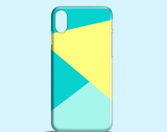 Abstract phone case / Bright geometric iPhone X case / iPhone 8 / iPhone 7 Plus / iPhone 6 / iPhone 5/5S/Se / Samsung Galaxy S7 / Galaxy S5